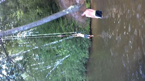 rope swing soccer conner trying to catch a football off rope swing youtube
