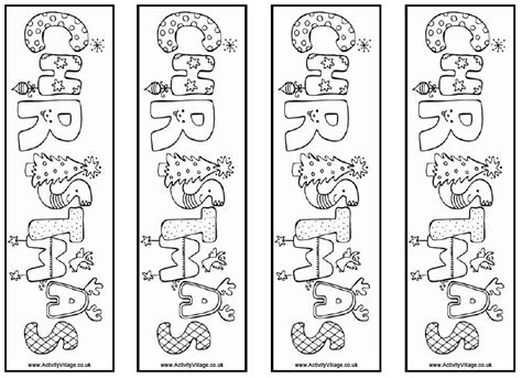 printable xmas bookmarks my christmas activity gift for library classes beyond