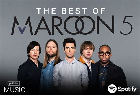 maroon 5 best songs philstar music s the best of maroon 5 on spotify