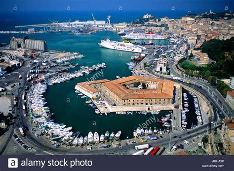 marche ancona aerial view mole vanvitelliana ancona marche italy