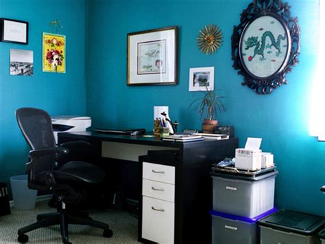 blue office eclectic home office photos hgtv