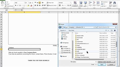 cara membuat software invoice cara buat invoice excel 2007 2010 mp4 youtube