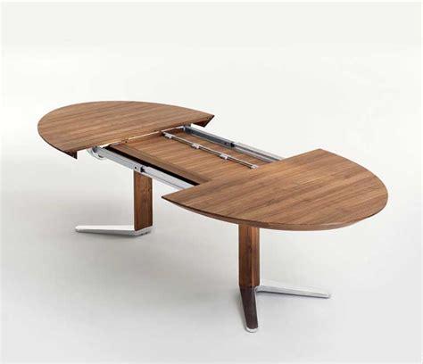 Holz Esstisch Ausziehbar esstisch oval holz ausziehbar mit verchromte metallstruktur