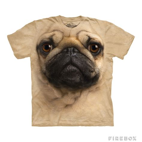 pug merchandise big pug t shirt firebox shop for the