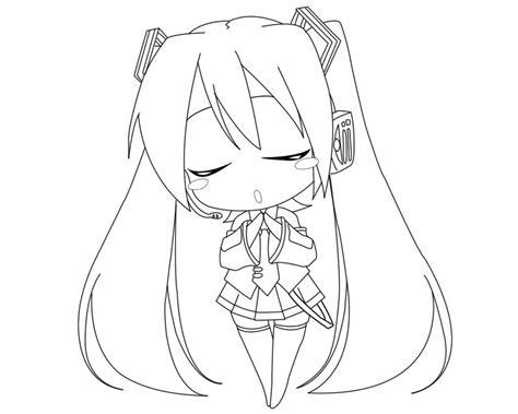 hatsune miku lineart by animemaniaco on deviantart