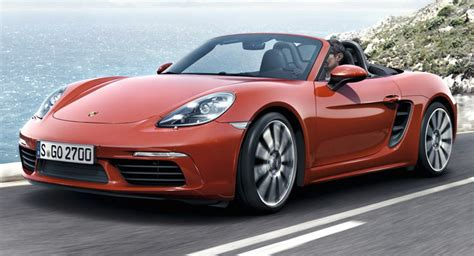 Is Porche German porsche 718 boxster revealed with new turbo d 4 cylinder engines w