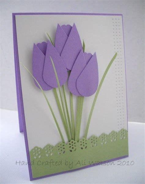 How To Make Tulips Out Of Tissue Paper - tulip template crafts