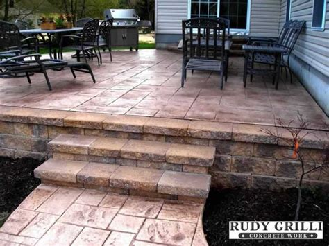 Raised Patio by Rudy Grilli Concrete Work Sted Decorative Concrete