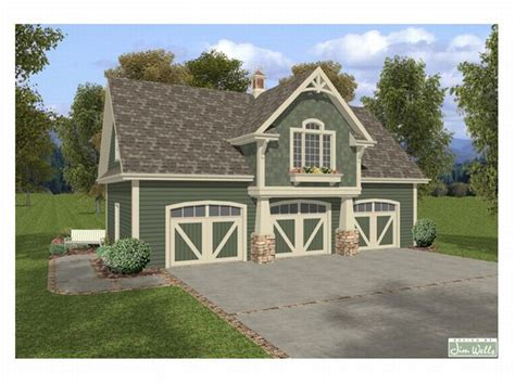 carriage house plans craftsman style carriage house with 3 car garage design 007g 0003 at