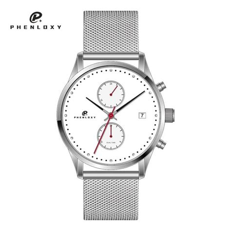 mens chronograph watches 2017 stainless steel mesh