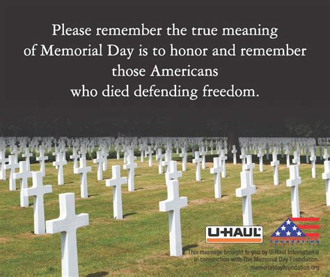 days meaning u haul about the true meaning of memorial day