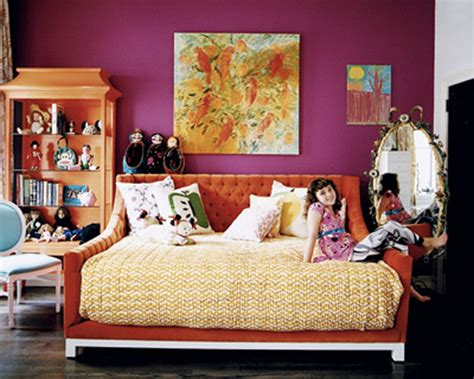 purple and orange bedroom decor good question full size daybed source apartment therapy