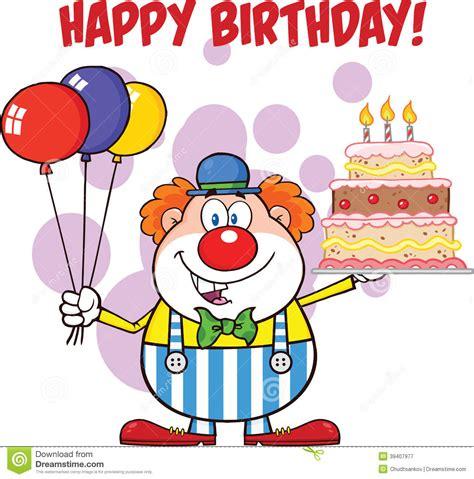 imagenes alegres de niños feliz cumplea 241 os con los globos y la torta de cartoon