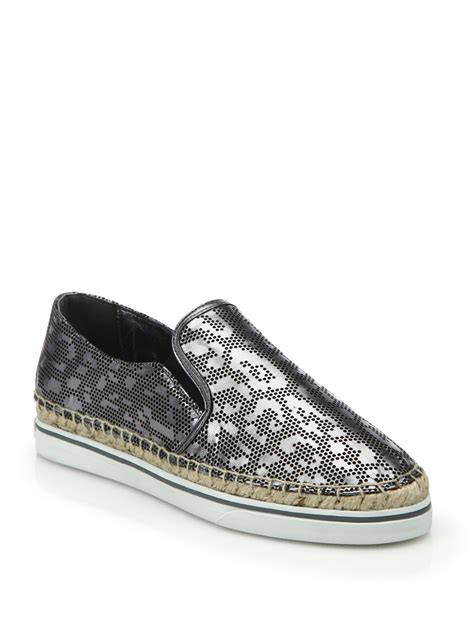 Jimmy Choo Jelissa 3102 Mcd jimmy choo perforated leopard metallic leather sneakers in gray lyst