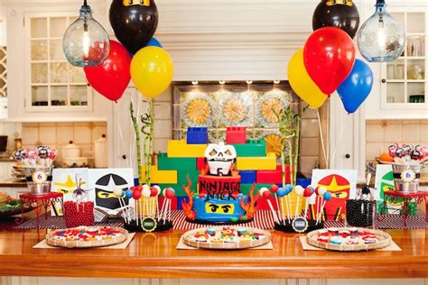 Birthday Decoration Ideas For Kids At Home by Kara S Party Ideas Ninjago Themed Birthday Party Planning
