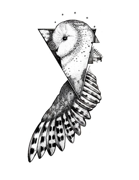 tattoo blackwork designs geometric owl blackwork pen and ink on bristol