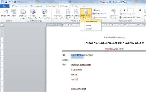 membuat nama undangan dengan mail merge cara membuat surat dengan banyak nama dan tujuan dengan