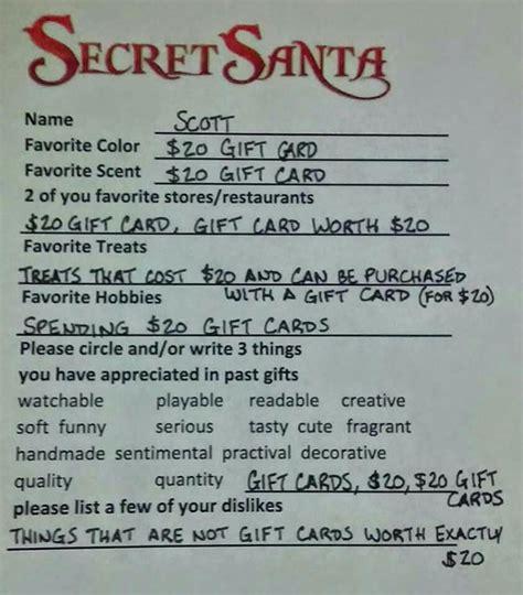 secret santa gift card template secret santa on reddit asks for 20 gift card metro news