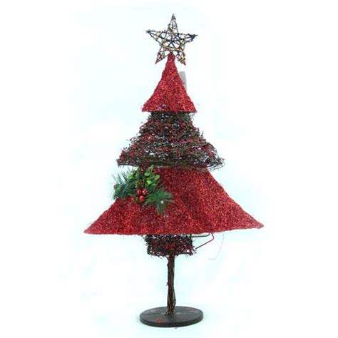 rattan sisal christmas cone tree snowman xmas holiday