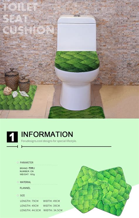 cat toilet seat cover and rug 3pcs bath wc decoration animal cat toilet seat cover rug bathroom set ebay