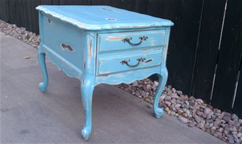 modernly shabby chic furniture turquoise and cream shabby chic end table