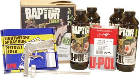 raptor bed liner kit u pol raptor black urethane spray on truck bed liner kit w