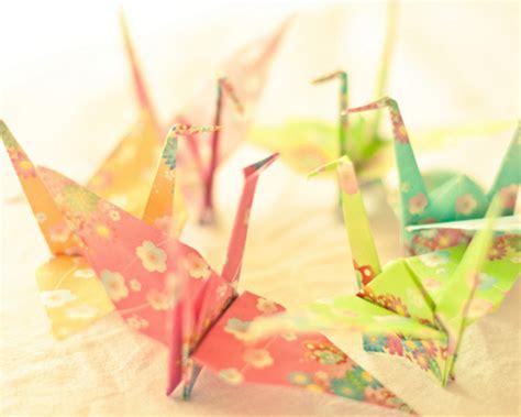 Pretty Origami Paper - crane floral origami paper paper crane image 195099