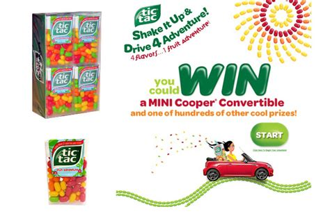 Tic Tac Sweepstakes - tic tac promotes mini cooper instant win sweepstakes point of purchase international