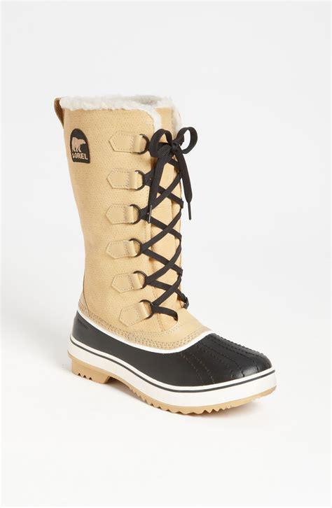 sorel tivoli boots sorel tivoli high waterproof boot in beige black lyst