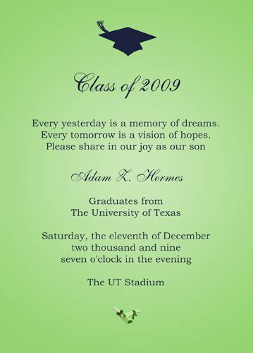 College Graduation Invitation Template college graduation announcements templates