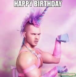 Sexy Happy Birthday Meme - happy birthday meme unicorn man 62317 memeshappen