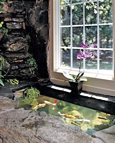 how to make an indoor fish pond do it yourself indoor outdoor koi pond
