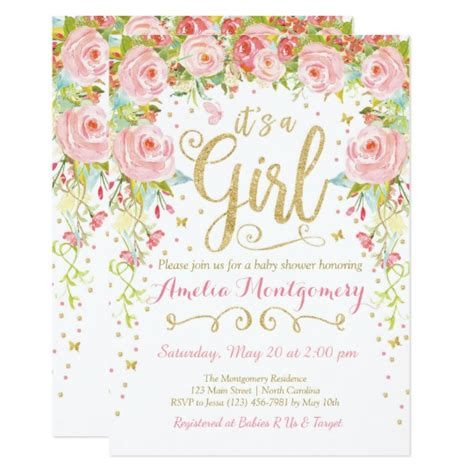 Butterfly Invitations For Baby Shower by Floral Butterfly Baby Shower Invitation Zazzle