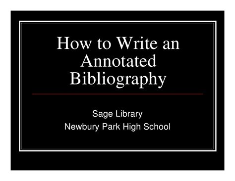 How To Write A Bibliography For An Essay by Sle Annotated Bibliography High School How To Write A Narrative Essay Application