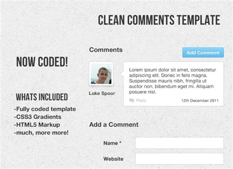 comments html template clean comment template coded jogjafile