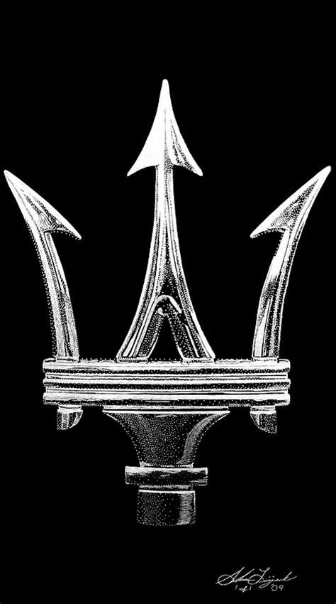 maserati logo drawing maserati logo vector