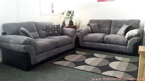bargain settees dfs langley grey chunky cord sofa 3 beautiful bargain