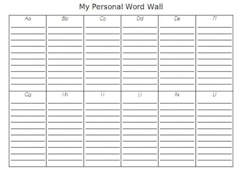 portable word wall template pin by meredith on back to school