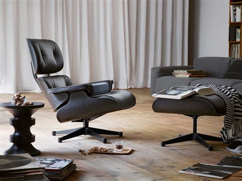 ottoman eames buy the vitra eames lounge chair ottoman all black at