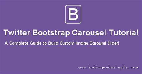 tutorial bootstrap carousel twitter bootstrap carousel tutorial with exles and