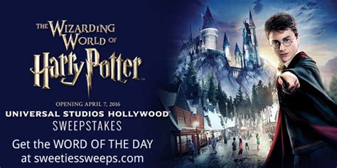 Extra Tv Giveaway Secret Word - extra tv wizarding world of harry potter sweepstakes word of the day