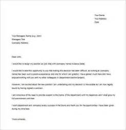 Template Resignation Letter Exle by Simple Resignation Letter Template 28 Free Word Excel