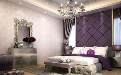 purple bedroom ideas 2018 الوان غرف النوم الحديثة باطلالة حيوية وجريئة 2018 مشاهير