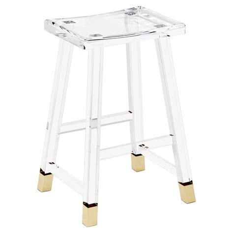 acrylic counter stools reno modern classic acrylic brass tip counter stool