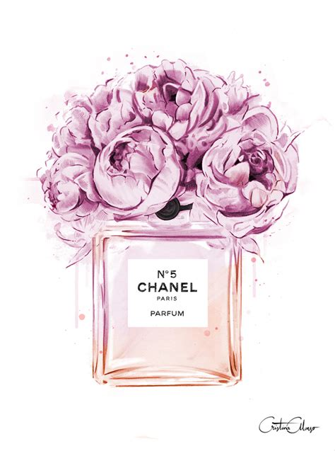 chanel wallpaper pinterest chanel perfume illustration with peonies print out and