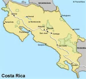 gudu ngiseng blog map of costa rica beaches