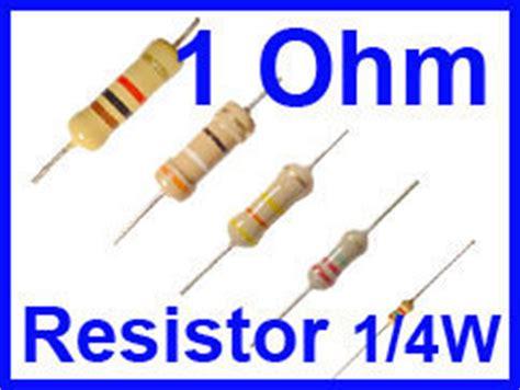 1 ohm resistor voltage drop 100 pcs resistors 1 ohm 1 4w 5 carbon 100 1ohm