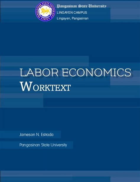 Labour Economics labor economics worktext