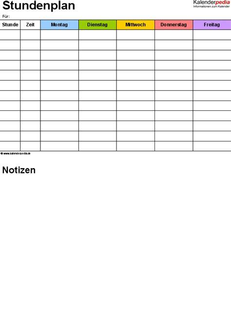 Vorlage Word Notizen Stundenplan Vorlagen Word Zum Ausdrucken