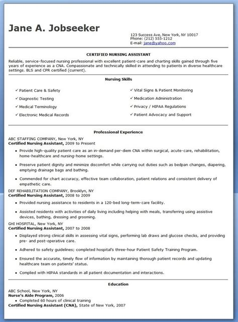 resume examples cna resumes sample photo for nursing in objective